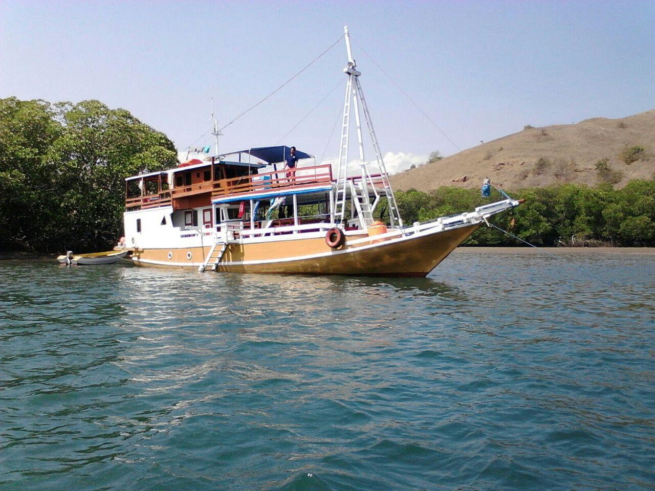 Boat of Komodo island trips
